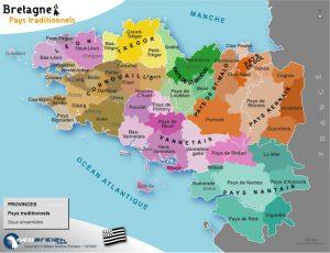 Carte de Bretagne, L'organisation de l'enseignement centrée sur les Pays.