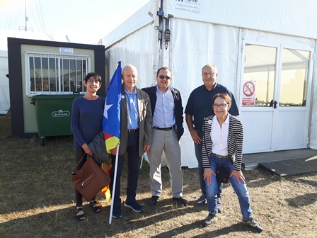 Au centre Thierry Salaun Chargé des relations internationales au Parti Breton et à droite de la photo le Président de l'EAJ PNV Nord