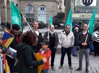 Le Parti Breton à Rennes en soutien aux dirigeants Catalans condamnés par la cour suprême